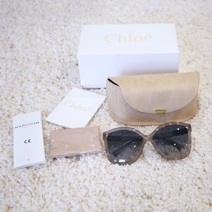 NWT 100% Authentic Chloe Greige Sunglasses
